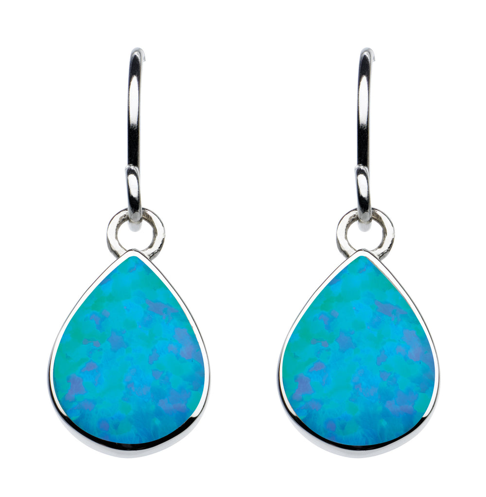 Silver Opalique Teardrop Earrings Kit Heath at Amber Bay