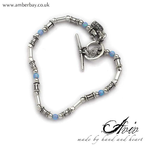 Aviv Sterling Silver Opal Bracelet at Amber Bay