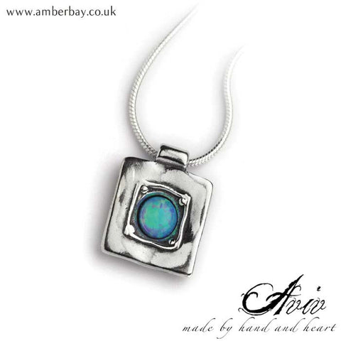 Aviv Sterling Silver and Opal Necklace at Amber Bay