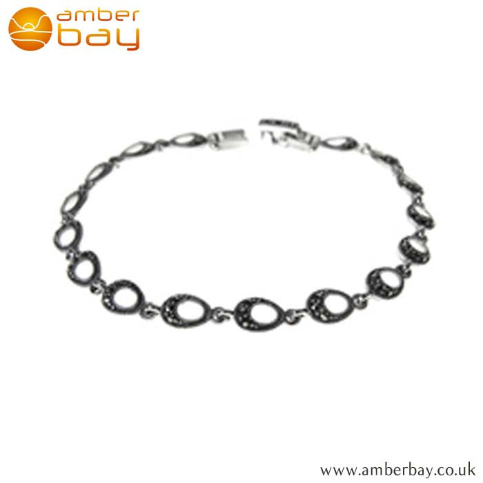 Sterling Silver and Marcasite Bracelet Kali Ma Jewellery at Amber Bay