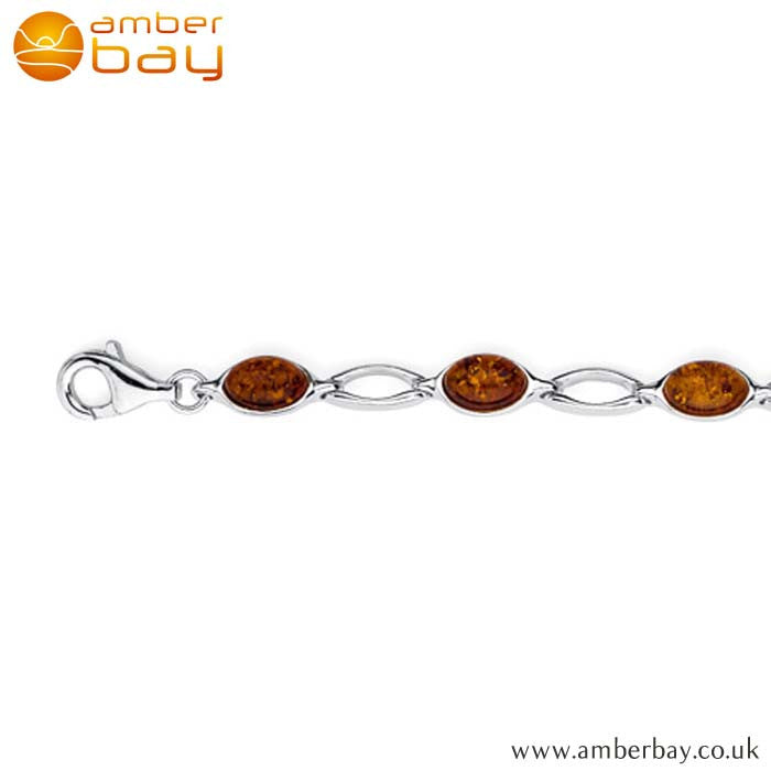 Silver and Amber Bracelet BR202 at Amber Bay