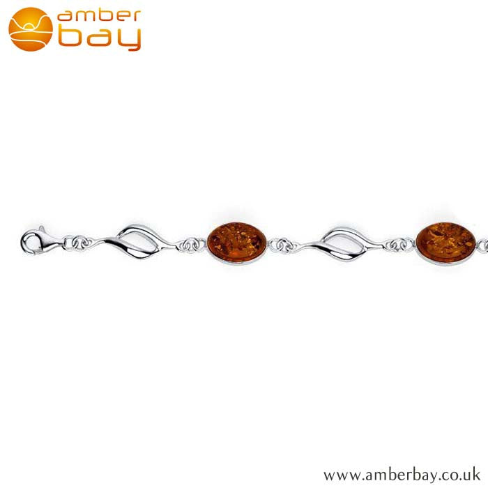 Silver and Amber Delicate Bracelet BR216 at Amber Bay
