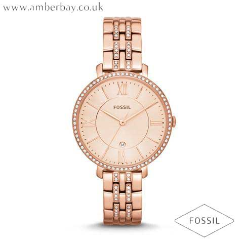 Fossil ES3546 Ladies Rose Gold Toned Jaqueline Watch