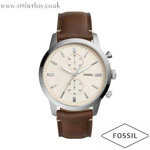 Fossil FS5350 Gents Leather Townsman Chronograph Watch