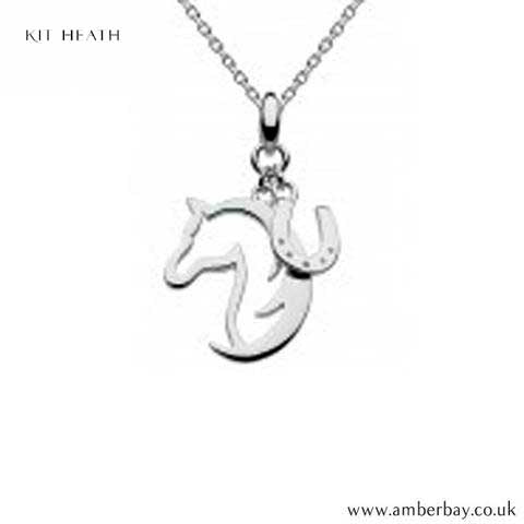 Silver Horse and Horseshoe Pendant 9474HP Kit Heath