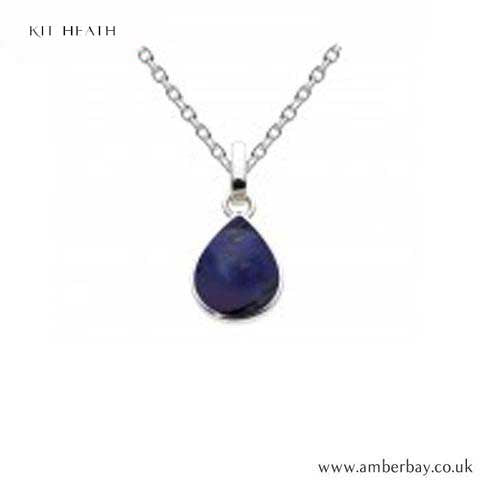 Silver Lapis Teardrop Pendant 9061LP Kit Heath