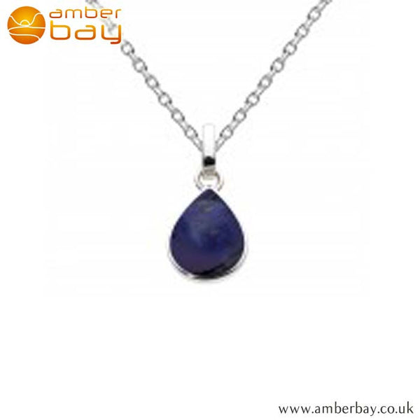 Silver Lapis Teardrop Pendant 9061LP Kit Heath at Amber Bay