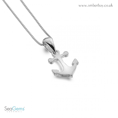 Sea Gems Sterling Silver Anchor Pendant / Charm P3501