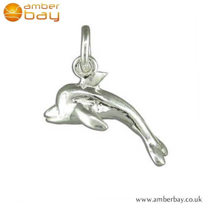 Sterling Silver Dolphin Charm/Pendant R2183 At Amber Bay