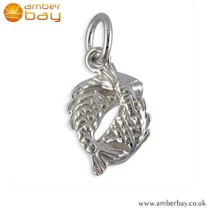 Sterling Silver Fish (Pisces) Charm/Pendant R5942 at Amber Bay