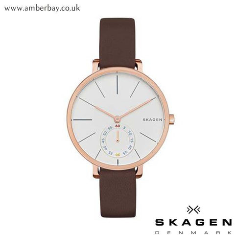 Ladies Skagen Hagen Leather Watch SKW2356 at Amber Bay