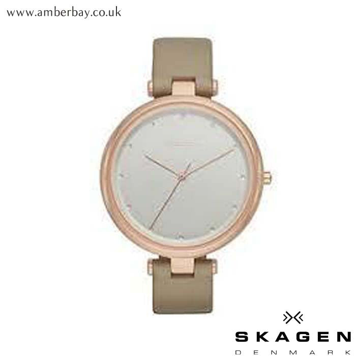 Skagen Ladies Tanja Leather Strap Watch SKW2484 at Amber Bay
