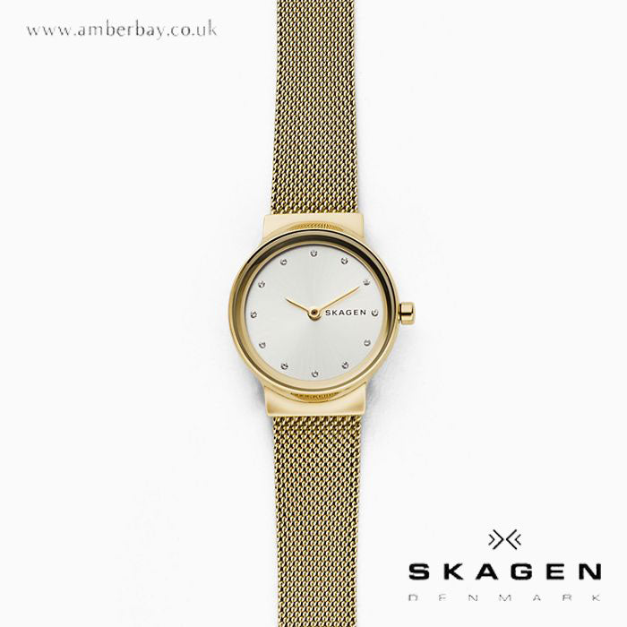 Skagen Ladies Freja Gold-Tone Steel-Mesh Watch SKW2717