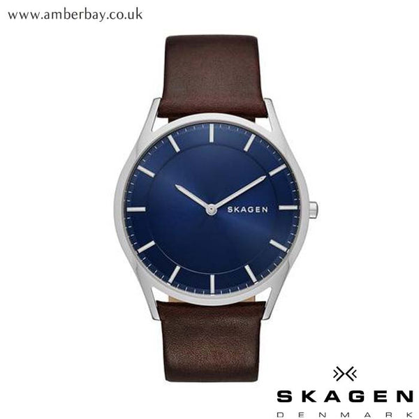 Gents Skagen Holst Leather Watch SKW6237 at Amber Bay