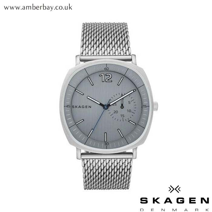 Skagen Gents Rungsted Heavy Gauge Steel Mesh Watch SKW6255 at Amber Bay
