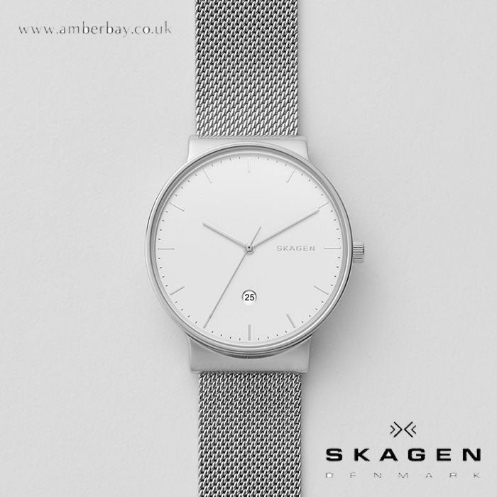 Skagen Gents Ancher Steel-Mesh Watch SKW6290