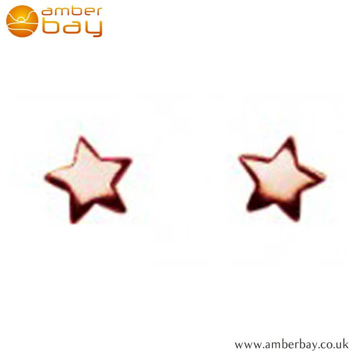 Rose Gold Plated Star Studs 4406RG Kit Heath at Amber Bay