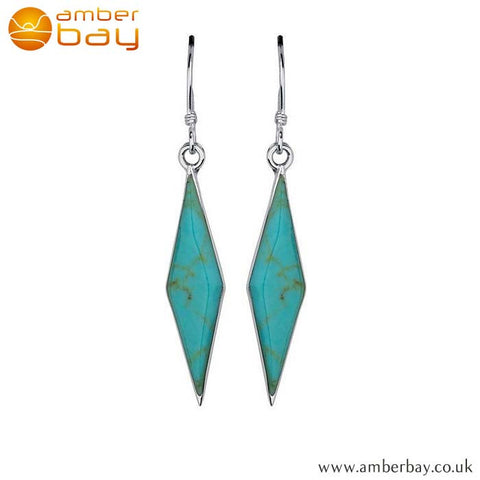 Sterling Silver Turquoise Drops at Amber Bay