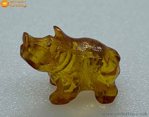 Amber Pig Carving