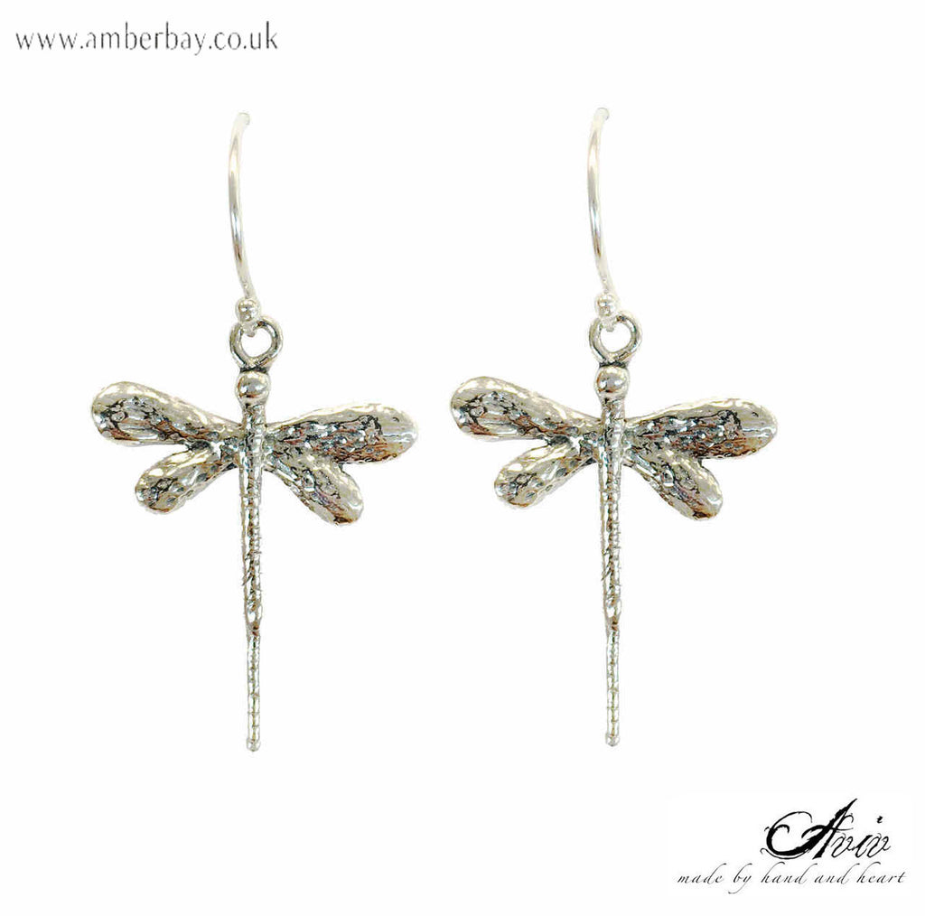 Aviv Sterling Silver Dragonfly Drop Earrings