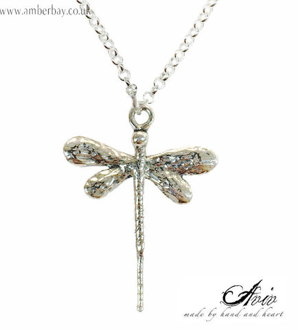 Aviv Sterling Silver Dragonfly Necklace