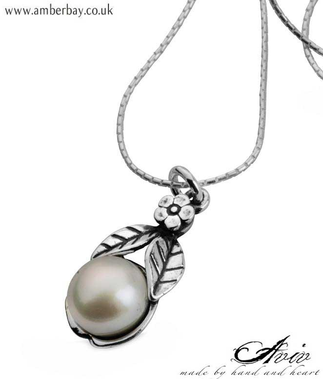 Aviv Sterling Silver and Pearl Necklace