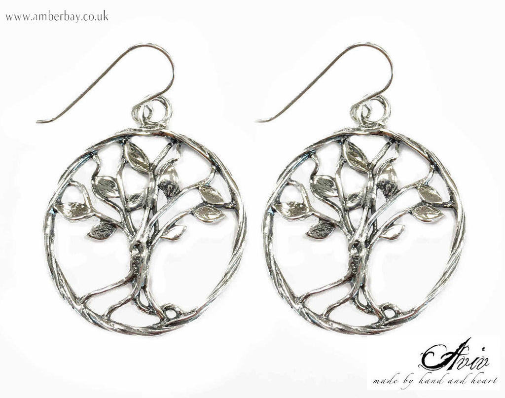 Aviv Sterling Silver Tree of Life Earrings