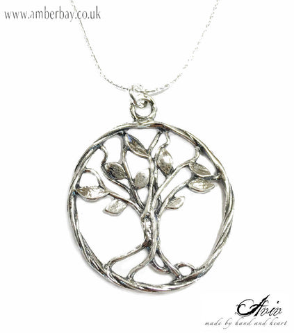 Aviv Sterling Silver Tree Of Life Necklace