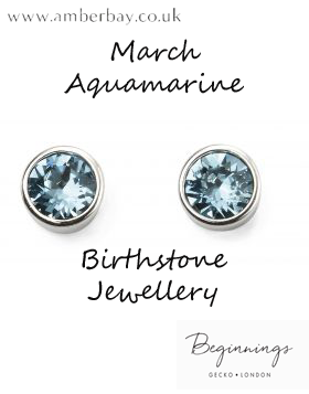 Beginnings March Aquamarine Swarovski Stud Earrings E4926