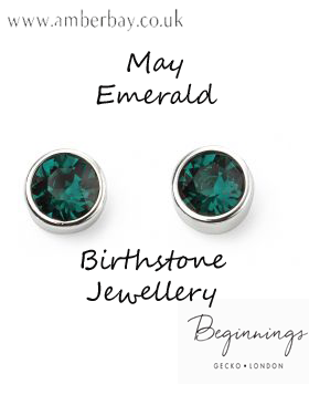 Beginnings May Emerald Swarovski Stud Earrings E4926g