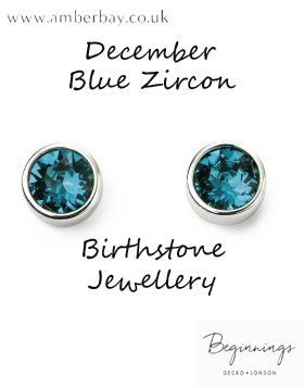 Beginnings December Blue Zircon Swarovski Stud Earrings E5561