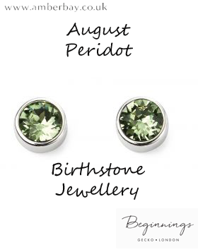 Beginnings August Peridot Swarovski Stud Earrings E5564