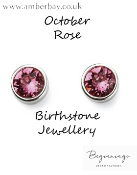 Beginnings October Rose Swarovski Stud Earrings E5565