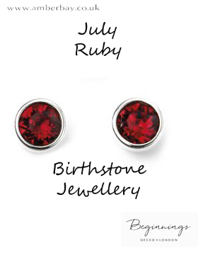 Beginnings July Ruby Swarovski Stud Earrings E5566