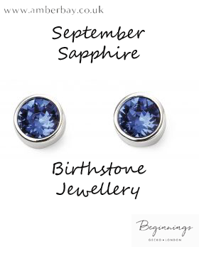 Beginnings September Sapphire Swarovski Stud Earrings E5567