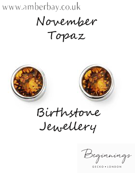 Beginnings November Topaz Swarovski Stud Earrings E5568