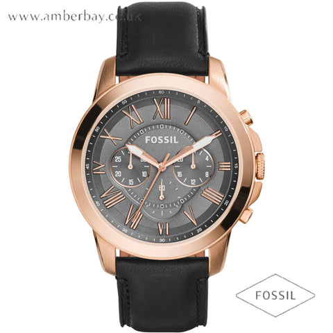 Fossil FS5085 Gents Leather Strap Multifunction Grant Watch