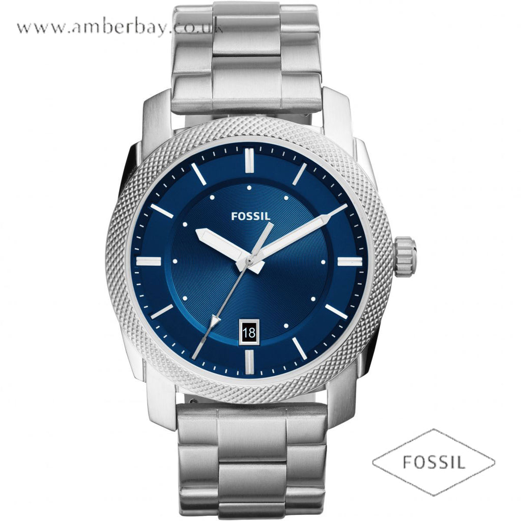 Fossil FS5340 Gents Stainless Steel Strap Blue Dial Machine Watch