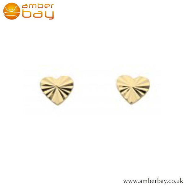 Gold Plated Heart Studs 48227GP Kit Heath at Amber Bay