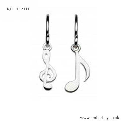 Silver Music Drop Earrings Kit Heath