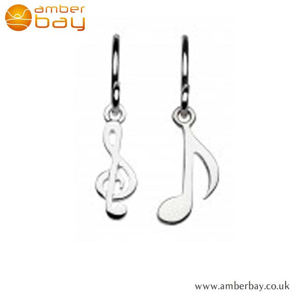 Silver Music Drop Earrings Kit Heath at Amber Bay