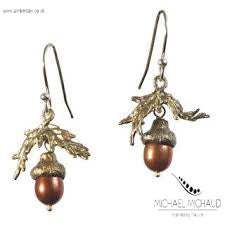 Michael Michaud Acorn Drop Earrings