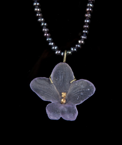 Michael Michaud African Violet Necklace