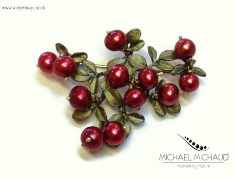 Michael Michaud Cranberry Brooch