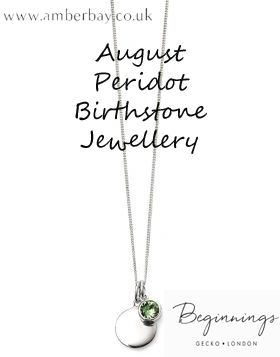 Beginnings August Peridot Swarovski Disc Pendant and Chain