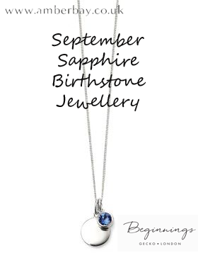 Beginnings September Sapphire Swarovski Disc Pendant and Chain