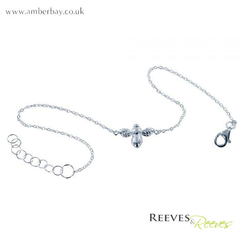 Reeves and Reeves Sterling Silver Bumble Bee Bracelet