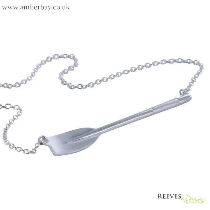 Silver Jig Oar Necklace