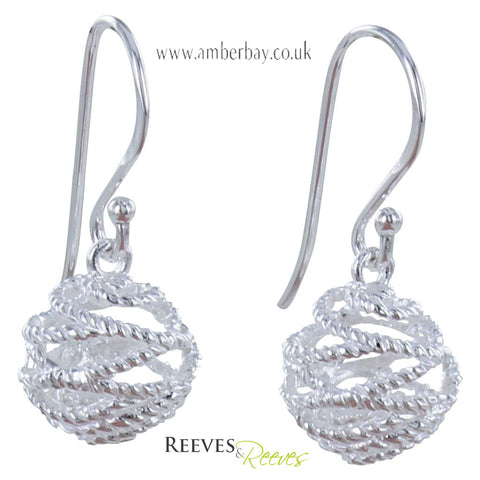 Reeves and Reeves Sterling Silver Bridport Rope Earrings