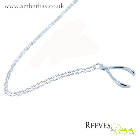 Reeves and Reeves Sterling Silver Wishbone Necklace